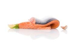 φρέσκια μπριζόλα σολομών Στοκ Εικόνες