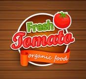 Φρέσκια ντομάτα - ετικέτα οργανικής τροφής Στοκ εικόνα με δικαίωμα ελεύθερης χρήσης