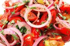 φρέσκια ντομάτα κρεμμυδιών κερασιών Στοκ φωτογραφία με δικαίωμα ελεύθερης χρήσης