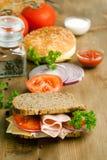 φρέσκια ντομάτα σάντουιτς  Στοκ Εικόνες