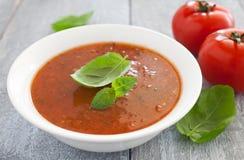φρέσκια ντομάτα σούπας Στοκ εικόνες με δικαίωμα ελεύθερης χρήσης