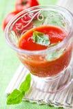 φρέσκια ντομάτα χυμού βασι Στοκ Εικόνα