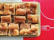 φρέσκια πίτα μήλων Στοκ Εικόνες