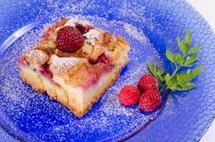 Φρέσκια πίτα σμέουρων Στοκ Εικόνα