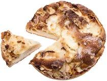 Φρέσκια πίτα της Apple στο λευκό Στοκ Εικόνες