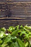Φρέσκια πράσινη σαλάτα με το σπανάκι, το arugula και το μαρούλι Στοκ Εικόνα