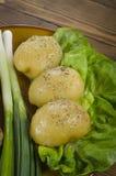 Φρέσκια πράσινη σαλάτα με την πατάτα Στοκ φωτογραφία με δικαίωμα ελεύθερης χρήσης