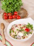 Φρέσκια σαλάτα κουσκούς με τα λαχανικά Στοκ Εικόνες