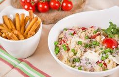 Φρέσκια σαλάτα κουσκούς με τα λαχανικά Στοκ φωτογραφία με δικαίωμα ελεύθερης χρήσης