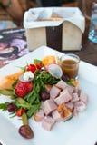 Φρέσκια σαλάτα ζαμπόν Στοκ φωτογραφία με δικαίωμα ελεύθερης χρήσης