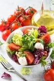 φρέσκια σαλάτα κύπελλων Στοκ εικόνα με δικαίωμα ελεύθερης χρήσης