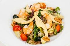 Φρέσκια σαλάτα με τις γαρίδες Στοκ Φωτογραφία