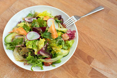 Φρέσκια σαλάτα με Στοκ εικόνα με δικαίωμα ελεύθερης χρήσης