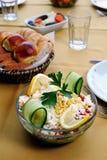 φρέσκια σαλάτα νόστιμη Στοκ Φωτογραφία