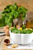 Φρέσκια σαλάτα σπανακιού στοκ εικόνες