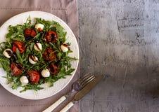 φρέσκια σαλάτα arugula Στοκ Εικόνες