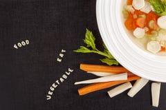 Φρέσκια σούπα αλφάβητου Στοκ Φωτογραφίες
