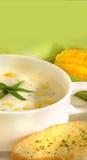 φρέσκια σούπα καλαμποκι&om Στοκ Φωτογραφίες