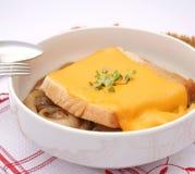 Φρέσκια σούπα κρεμμυδιών Στοκ εικόνες με δικαίωμα ελεύθερης χρήσης