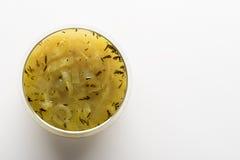 Φρέσκια σούπα κρεμμυδιών Στοκ Εικόνες