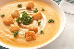 φρέσκια σούπα κύπελλων butternut Στοκ Εικόνες
