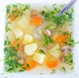 φρέσκια σούπα μανιταριών Στοκ φωτογραφία με δικαίωμα ελεύθερης χρήσης