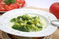Φρέσκια σούπα μπρόκολου Στοκ Εικόνες