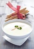φρέσκια σούπα σπαραγγιού Στοκ εικόνες με δικαίωμα ελεύθερης χρήσης