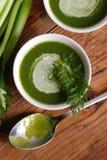Φρέσκια σούπα του σέλινου Στοκ Εικόνες