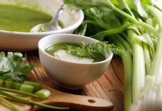 Φρέσκια σούπα του σέλινου Στοκ Φωτογραφίες