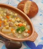 φρέσκια σούπα Στοκ Εικόνες