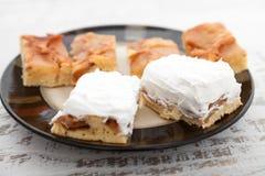 φρέσκια σπιτική πίτα μήλων Στοκ εικόνες με δικαίωμα ελεύθερης χρήσης