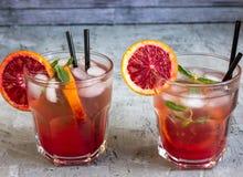Φρέσκια σπιτική πορτοκαλιά λεμονάδα Στοκ Εικόνες