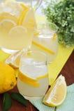 φρέσκια στάμνα λεμονάδας γυαλιών Στοκ φωτογραφίες με δικαίωμα ελεύθερης χρήσης