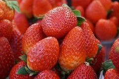 φρέσκια σύσταση φραουλών Στοκ φωτογραφία με δικαίωμα ελεύθερης χρήσης