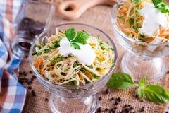 Φρέσκια υγιής ακατέργαστη θρεπτική σαλάτα Στοκ Εικόνες