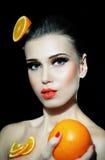 φρέσκια υγιής βιταμίνη ύφους πορτοκαλιών γ Στοκ φωτογραφία με δικαίωμα ελεύθερης χρήσης