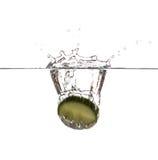 Φρέσκια φέτα του αγγουριού Στοκ Φωτογραφίες