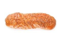 Φρέσκια φλοιώδης τοπ άποψη baguette που απομονώνεται με το ψαλίδισμα της πορείας στοκ εικόνες με δικαίωμα ελεύθερης χρήσης