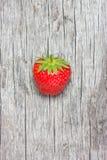Φρέσκια φράουλα στο ξύλινο υπόβαθρο Στοκ εικόνα με δικαίωμα ελεύθερης χρήσης
