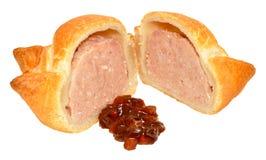 Φρέσκια φλοιώδης πίτα χοιρινού κρέατος στοκ φωτογραφία