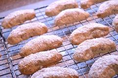 Φρέσκια ψημένη ημισεληνοειδής ψύξη μπισκότων Στοκ Φωτογραφίες
