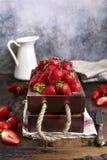 Φρέσκια ώριμη οργανική φράουλα στοκ φωτογραφία με δικαίωμα ελεύθερης χρήσης