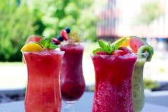Φρέσκοι θερινοί fruity καταφερτζήδες Στοκ φωτογραφίες με δικαίωμα ελεύθερης χρήσης