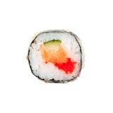 Φρέσκοι ιαπωνικοί ρόλοι σουσιών σε ένα άσπρο υπόβαθρο Στοκ εικόνες με δικαίωμα ελεύθερης χρήσης