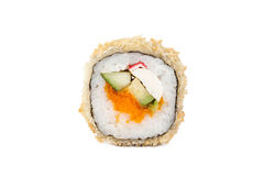 Φρέσκοι ιαπωνικοί ρόλοι σουσιών σε ένα άσπρο υπόβαθρο Στοκ φωτογραφία με δικαίωμα ελεύθερης χρήσης