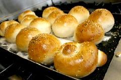 φρέσκοι ρόλοι ψωμιού Στοκ Φωτογραφία