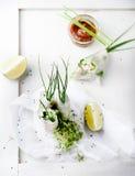 Φρέσκοι ρόλοι άνοιξη σε ένα άσπρο υπόβαθρο Στοκ φωτογραφία με δικαίωμα ελεύθερης χρήσης
