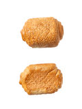 Φρέσκοι ρόλοι ψωμιού που απομονώνονται στο άσπρο υπόβαθρο Στοκ Εικόνες