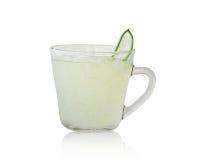 Φρέσκοι aloe φύλλα της Βέρα και aloe χυμός της Βέρα Στοκ φωτογραφίες με δικαίωμα ελεύθερης χρήσης